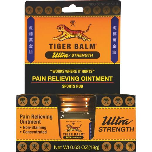 Tiger Balm 0.63 Oz. Ultra Strength Pain Relieving Ointment
