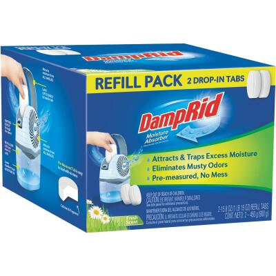 DampRid 15.8 Oz. Fresh Scent Spill Resistant Moisture Absorber Refill (2-Count)