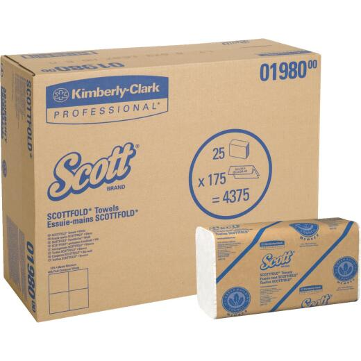 Kimberly Clark Scott Scottfold M White Hand Towel (25 Count)