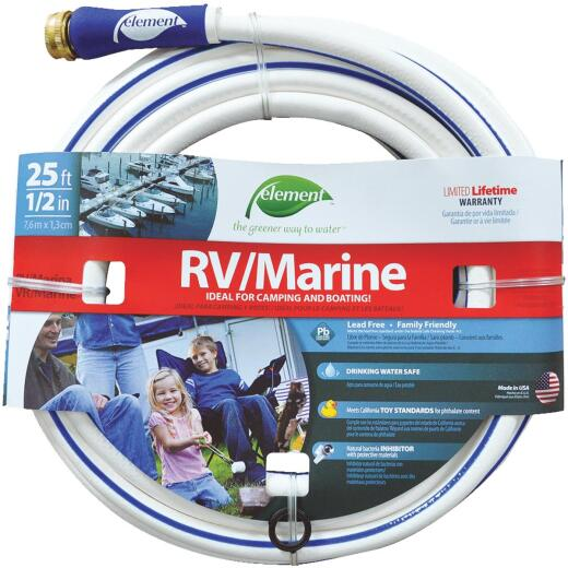Element 1/2 In. Dia. x 25 Ft. L. Drinking Water Safe RV/Marine Hose