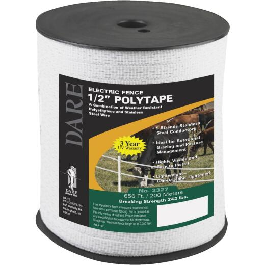 Dare 1/2 In. x 656 Ft. Polyethylene Electric Fence Poly Tape