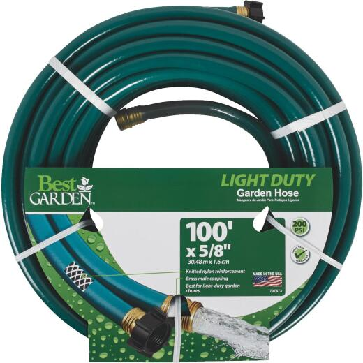 Best Garden 5/8 In. x Dia. 100 Ft. L. Light-Duty Garden Hose