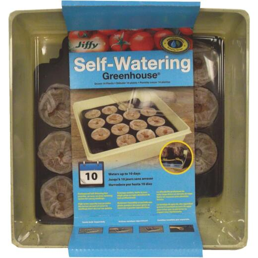 Jiffy 14-Cell Self-Watering Greenhouse Seed Starter Kit