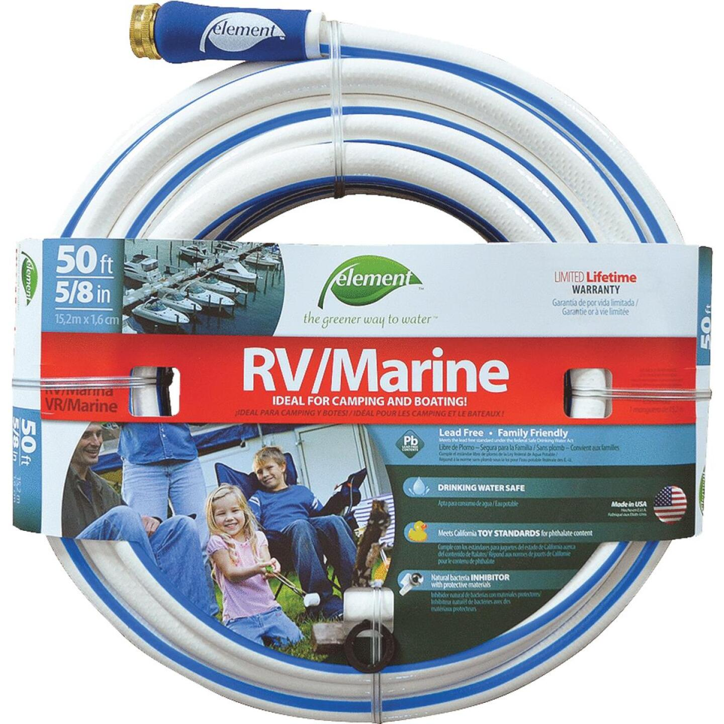 Element 5/8 In. Dia. x 50 Ft. L. Drinking Water Safe RV/Marine Hose Image 1