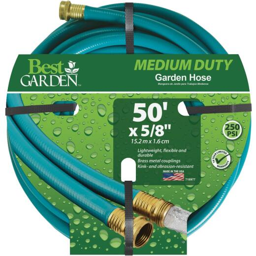 Best Garden 5/8 In. Dia. x 50 Ft. L. Medium-Duty Vinyl Garden Hose
