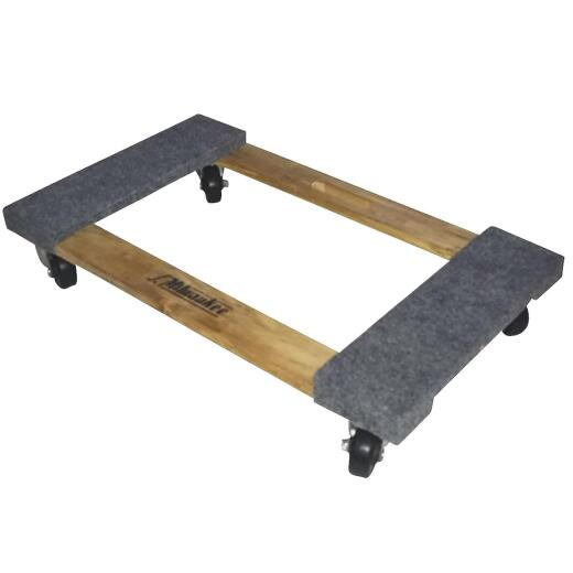 Gleason 18 In. x 30 In. 1000 Lb. Load Capacity Hardwood Furniture Dolly