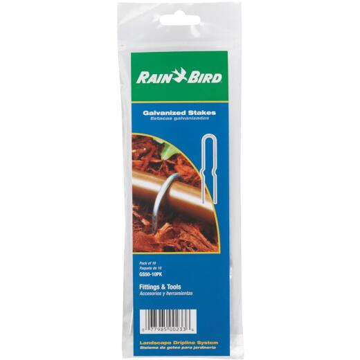 Rain Bird 1/2 In. Tubing Galvanized Steel Stake (10-Pack)