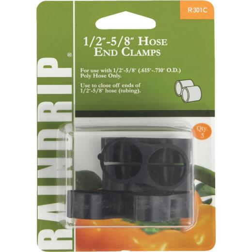 Raindrip 1/2 In. to 5/8 In. Figure 8 End Clamp (5-Pack)