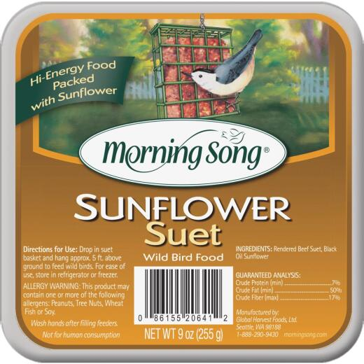 Morning Song 9 Oz. Sunflower Suet