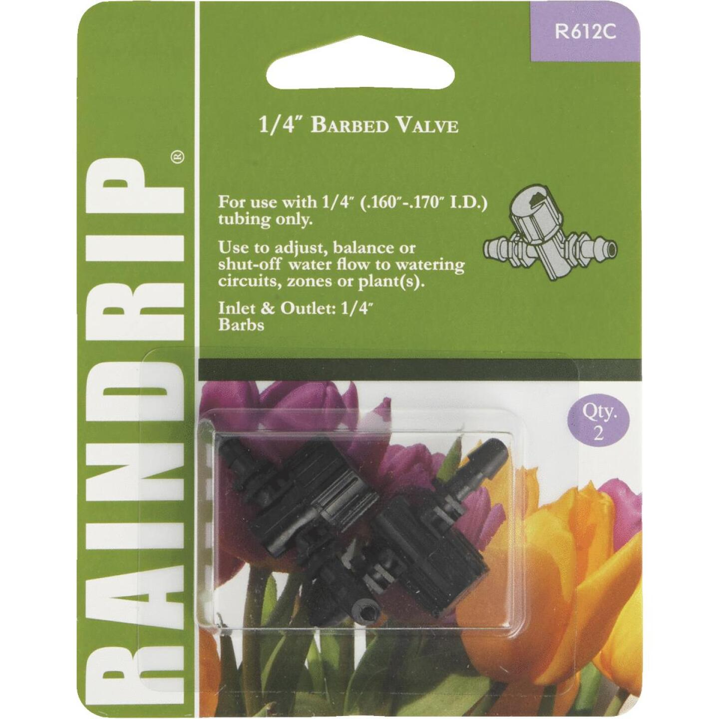 Raindrip 1/4 In. Double-Barbed In-Line Valve (2-Pack) Image 1