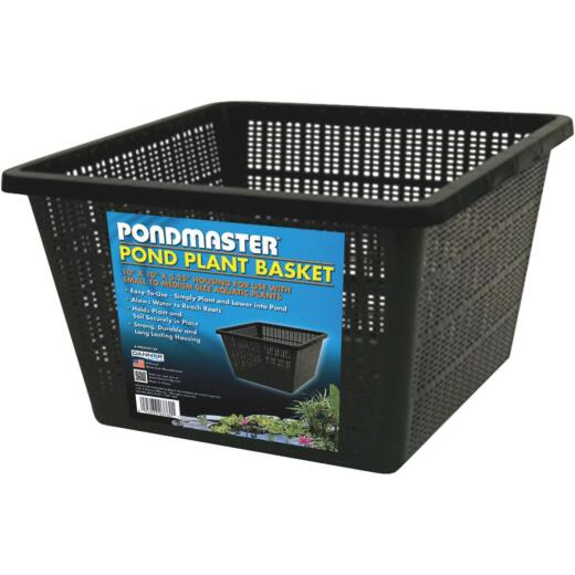 PondMaster 10 In. x 10 In. Black Pond Plantainer