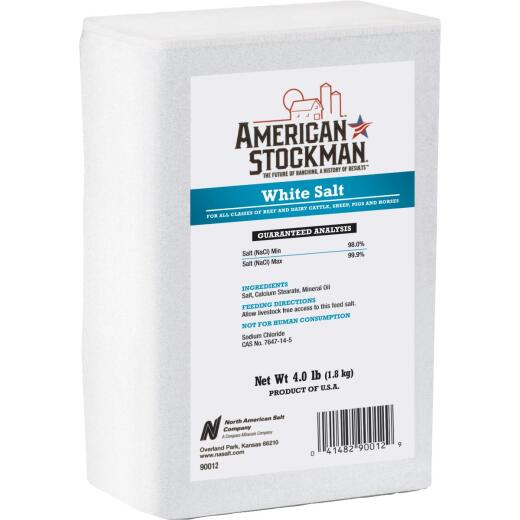 American Stockman 4 Lb. Plain White Salt Block
