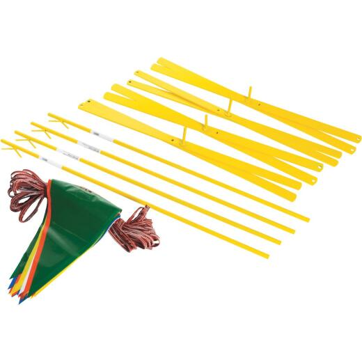 Acro 42 In. Steel Staff Yellow Marking Flags