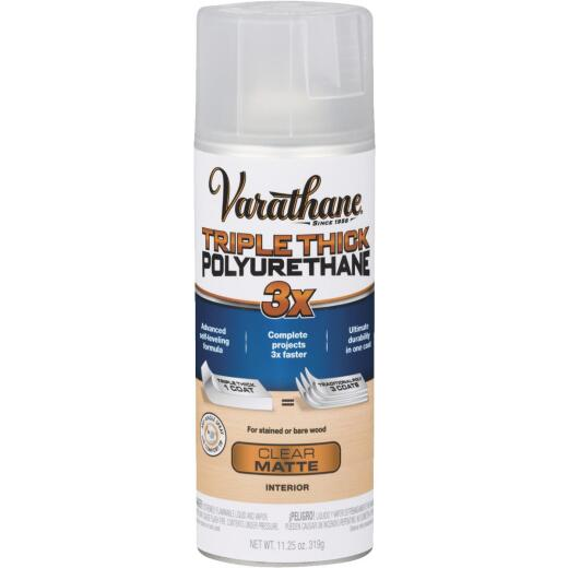 Varathane Triple Thick Matte Clear Spray Polyurethane, 11.25 Oz.