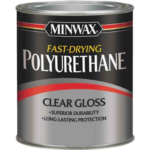Minwax Gloss Fast-Drying Interior Polyurethane, 1 Qt.