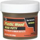 DAP Plastic Wood 3.7 Oz. Light Walnut Wood Putty Image 1