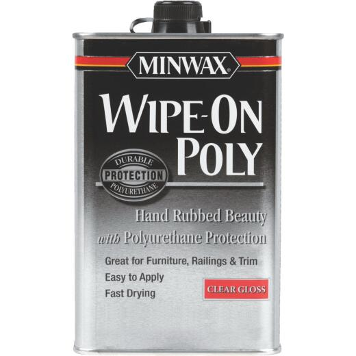 Minwax Gloss Wipe-On Interior Polyurethane, 1 Qt.