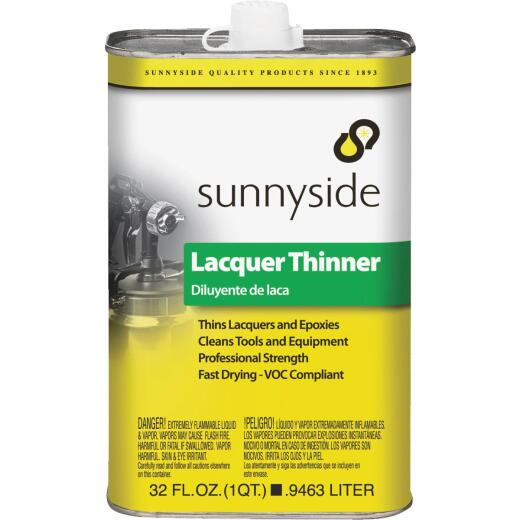 Sunnyside Low VOC Lacquer Thinner, Quart