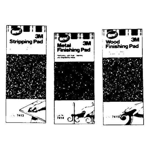 3M 4-1/2 In. x 11 In. Paint Stripping Abrasive Stripping Pad