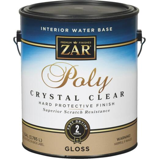 ZAR Aqua Gloss Water-Based Interior Polyurethane, 1 Gal.