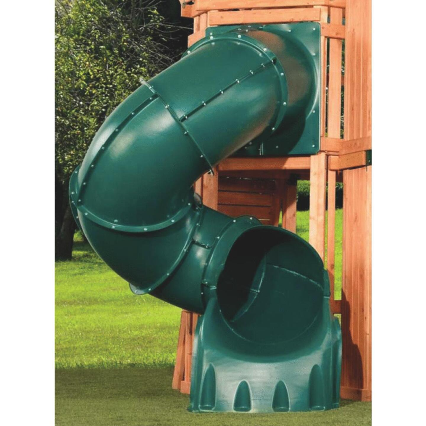 Swing N Slide 5 Ft. L. Green Polyethylene Tube Slide Image 1