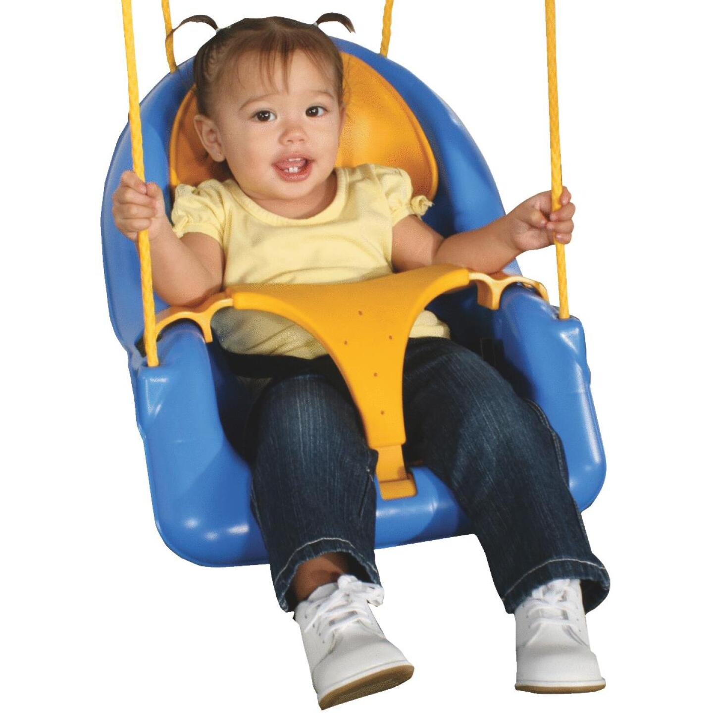Swing N Slide Comfy-N-Secure Toddler Blue & Yellow Swing Image 1