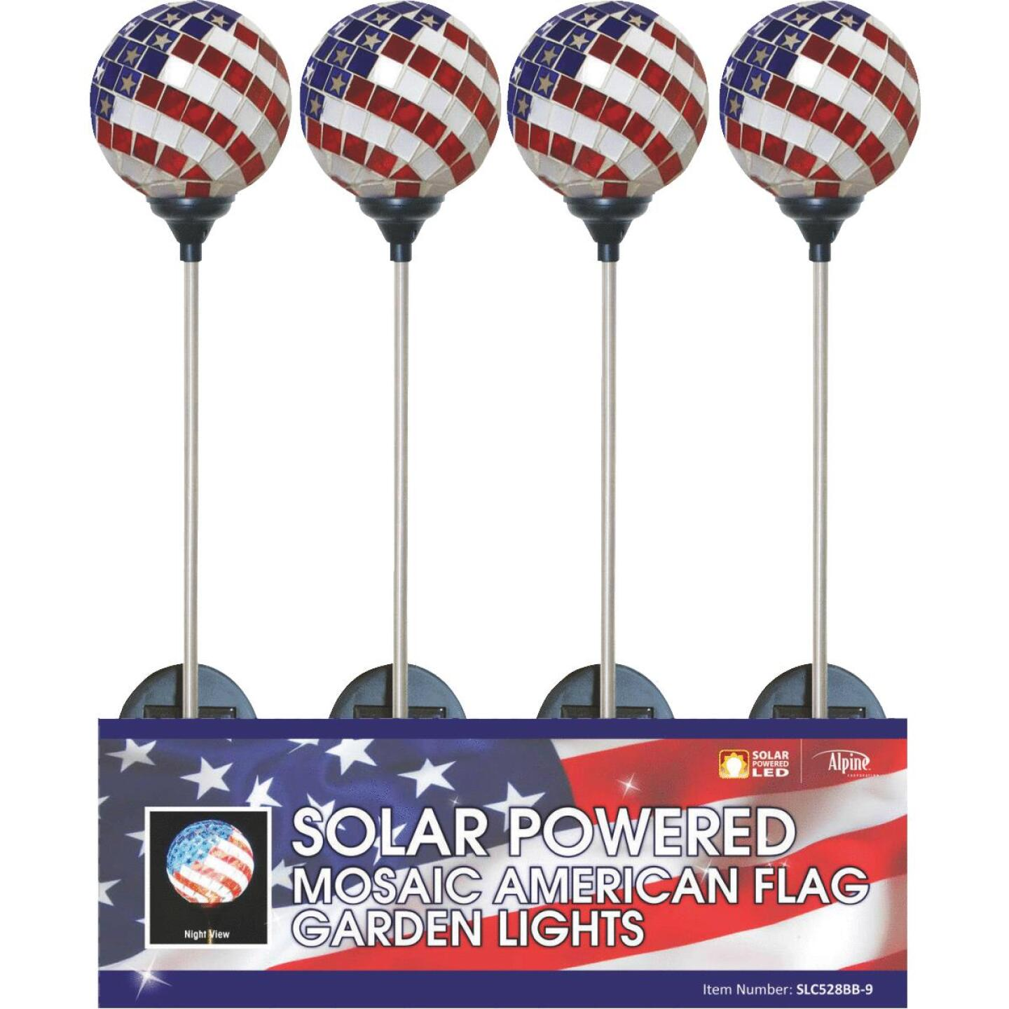 Solaris Americana Glass Globe 33 In. H. Solar Stake Light Image 3