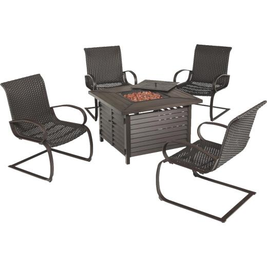 Tahiti 5-Piece Fire Pit Chat Set