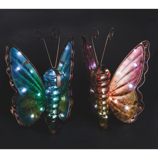Outdoor Expressions 11.25 In. H. x 8 In. Dia. Butterfly Solar Light