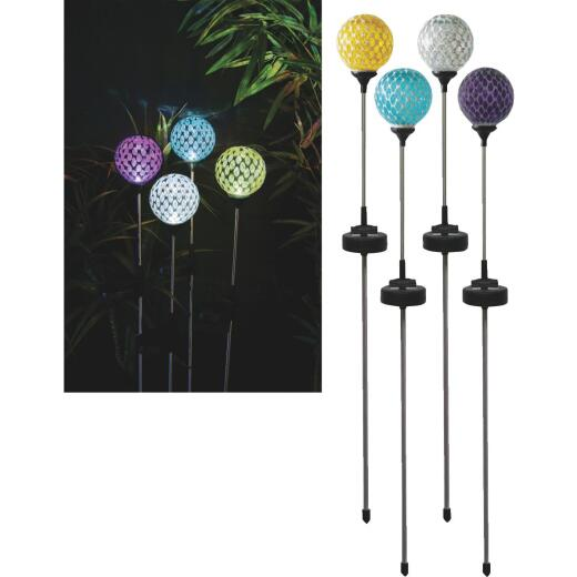 Solaris Mosaic Glass 33 In. H. Solar Stake Light
