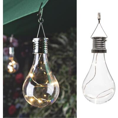 Gerson Everlasting Glow Clear Edison Bulb 5.5 In. H. x 2.75 In. Dia. Solar Light