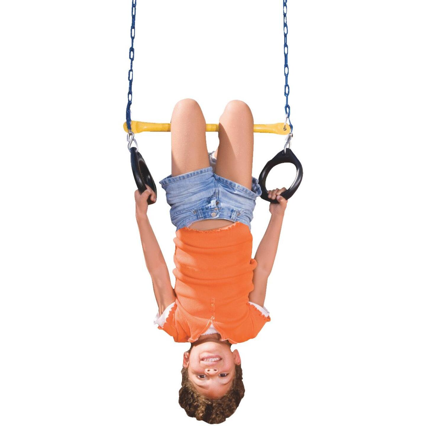 Swing N Slide 115 Lb. Weight Capacity Ring & Trapeze Combination Image 1
