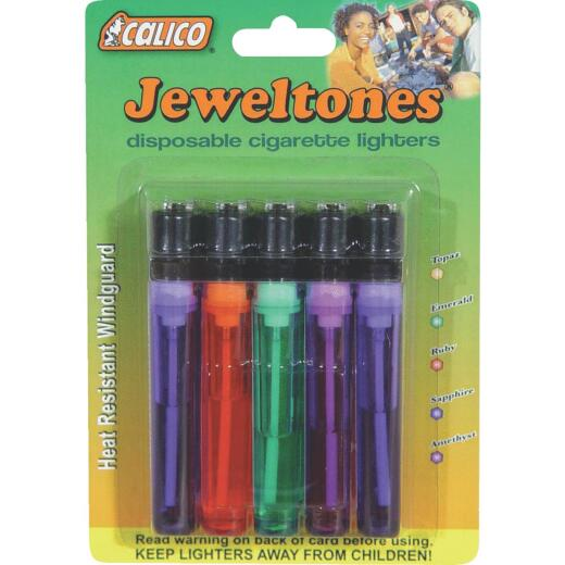 Calico Jeweltones Pocket Lighter (5-Pack)