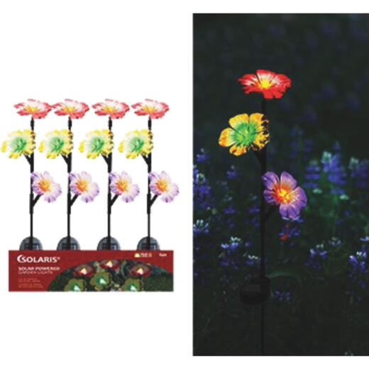 Alpine Solaris Acrylic 32 In. H. Exotic Flower LED Solar Garden Stake