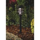 Moonrays Black Black 3.6 Lumens Plastic LED Solar Lantern Path Light Image 2