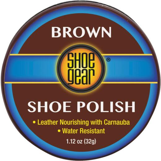 Shoe Gear 1-1/8 Oz. Brown Paste Shoe Polish