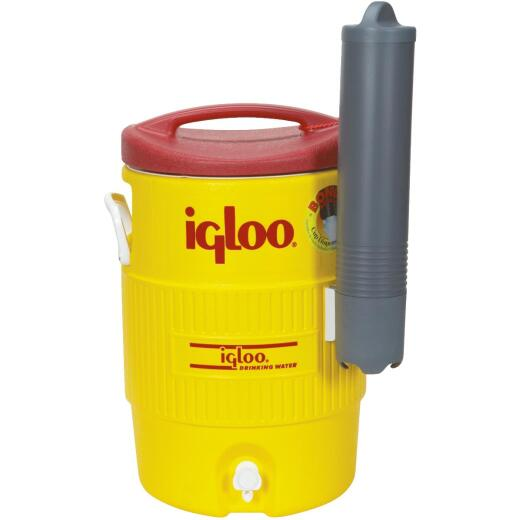 Igloo 5 Gal. Yellow Industrial Water Jug with Cup Dispenser