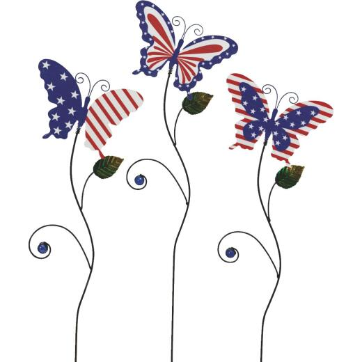 Gerson Spring GIL 29.1 In. H. Patriotic Butterfly Yard Stake