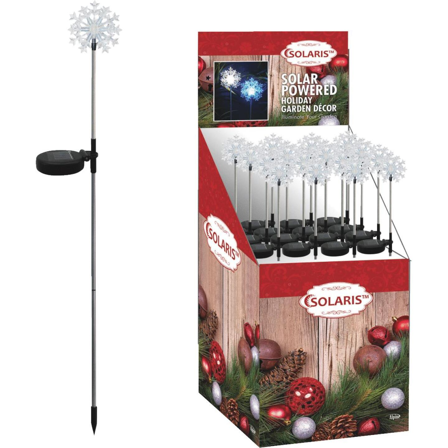 Solaris 33 In. LED Solar Snowflake Holiday Garden Stake Image 1