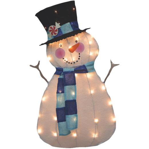 Product Works 32 In. Incandescent Snowman Holiday Figure