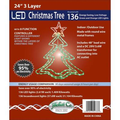 J Hofert 24 In. LED Lighted Christmas Tree