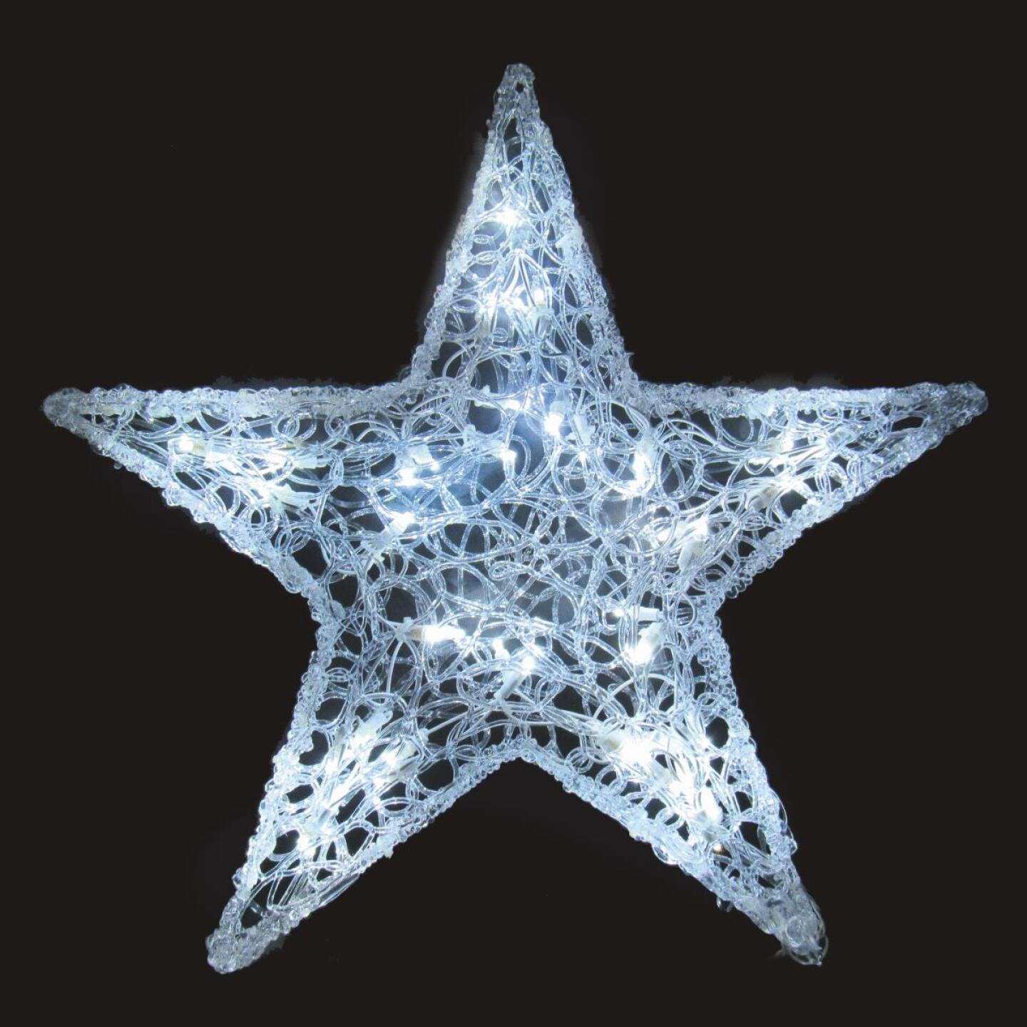 J Hofert 24 In. LED Lighted Spun Glass Star Image 1