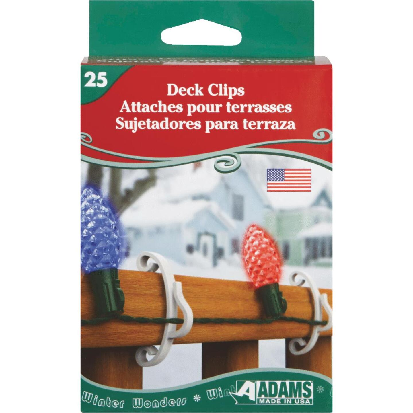 Adams White Deck Light Clips (25-Pack) Image 1