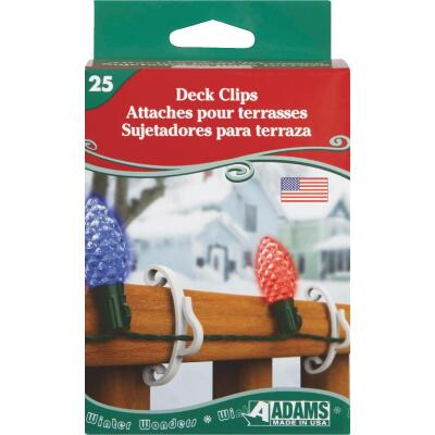 Adams White Deck Light Clips (25-Pack)