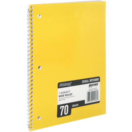 ProMark 8-1/4 In. W. x 10-1/2 In. H. 70-Sheet Side-Spiral Notebook